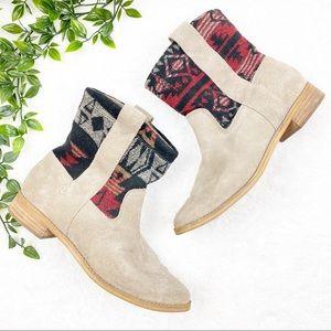 TOMS | Laurel Patterned Tribal Suede Ankle Boots